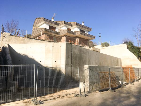 Muros de contención en Briñas